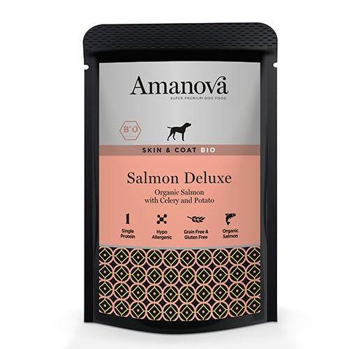 Amanova Bio Grain Free bolsita húmeda con salmón