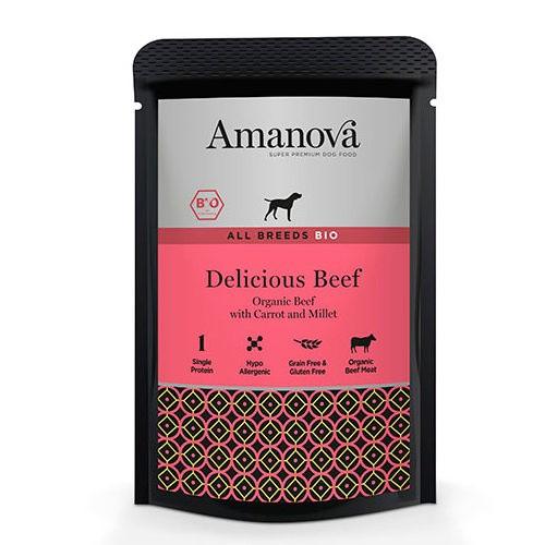Amanova Bio Grain Free bolsita húmeda con ternera