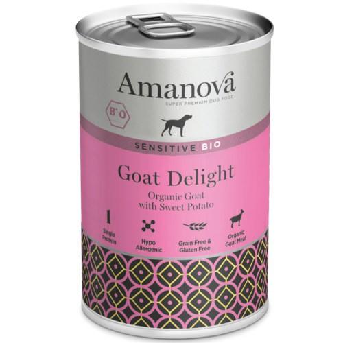 Amanova Bio Grain Free lata de húmedo con cabra