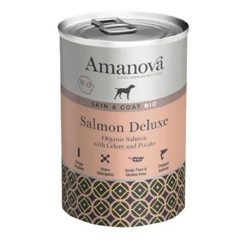 Amanova Bio Grain Free lata de húmedo con salmón