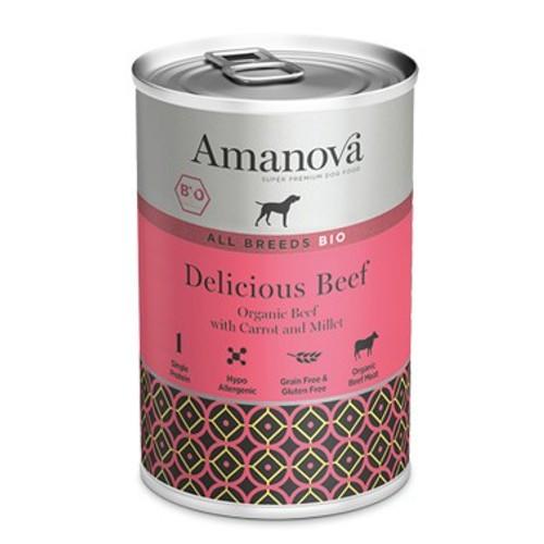 Amanova Bio Grain Free lata de húmedo con ternera
