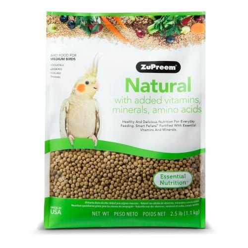 Food Zupreem Natural for medium birds