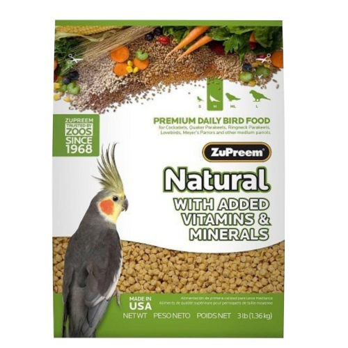 Pienso Zupreem Natural para pájaros medianos
