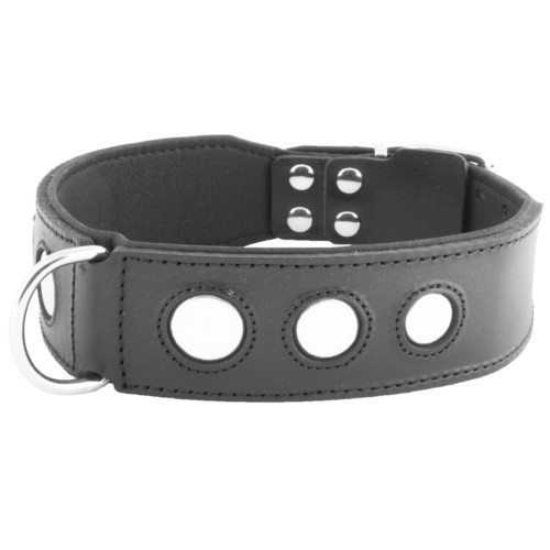 Collar de cuero Royal Moon negro