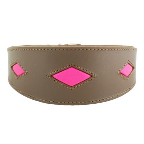 Collar para galgos Royal Diamond marrón