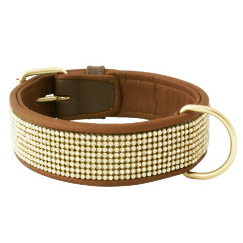 Collar de brillantes Urban marrón