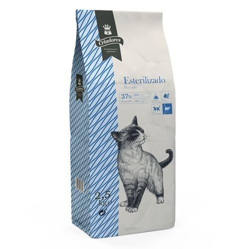 Pienso para gatos esterilizados Criadores con pescado