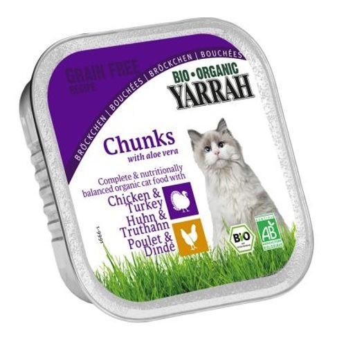Organic chunks Yarrah of chicken, turkey and aloe