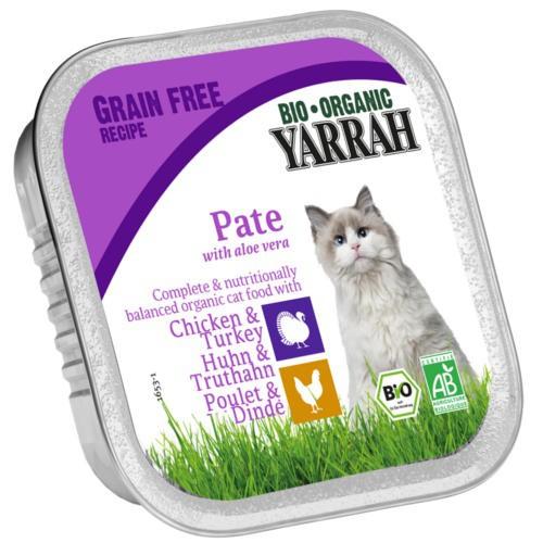 Paté ecológico Yarrah de pollo, pavo y aloe