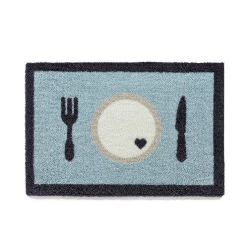 Alfombrilla para comederos Dinner azul