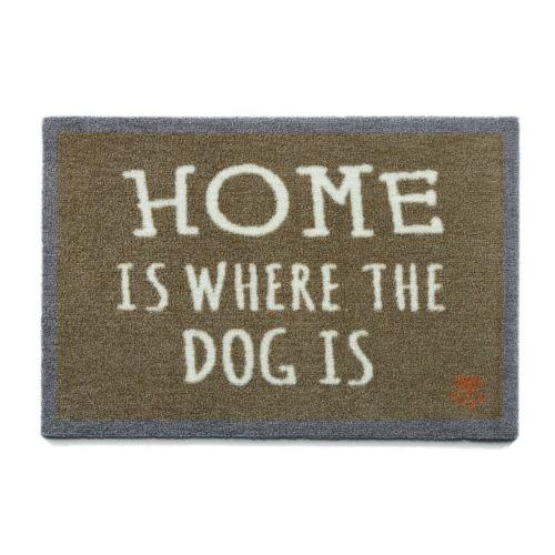Felpudo perruno Home Is Dog marrón