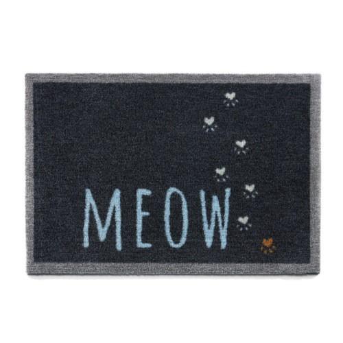 Felpudo gatuno Meow negro