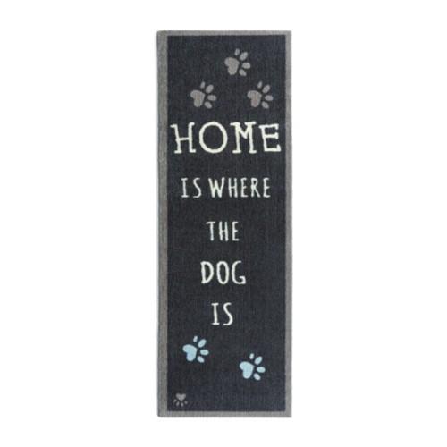 Felpudo perruno alargado Home Is Dog negro