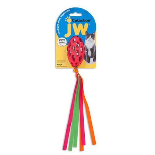 Pelota con cintas colgantes de colores para gatos