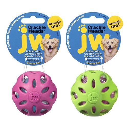 Pelota de caucho con interior crujiente para perros