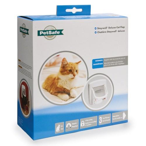 Puerta para gatos Staywell magnética blanca