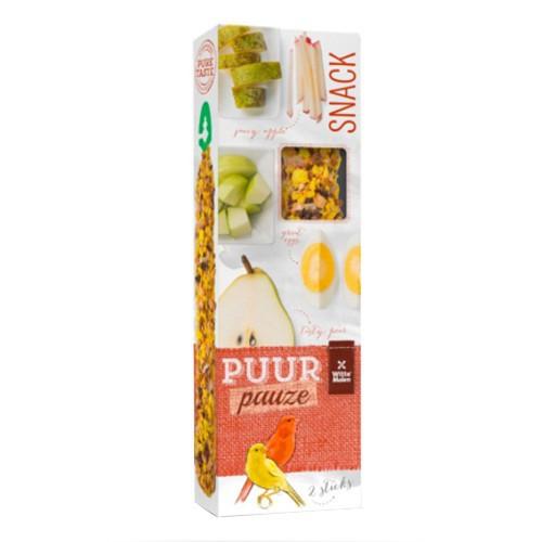 Barritas de frutas y huevo Puur para canarios