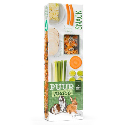 Barritas de verduras Puur para roedores