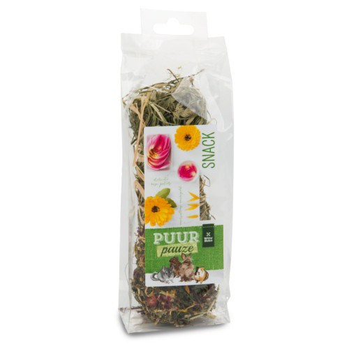 Barrita de heno de flores Puur para roedores