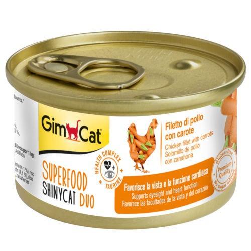Comida húmeda GimCat de pollo y zanahoria