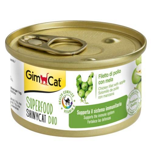 Comida húmeda GimCat de pollo y manzana