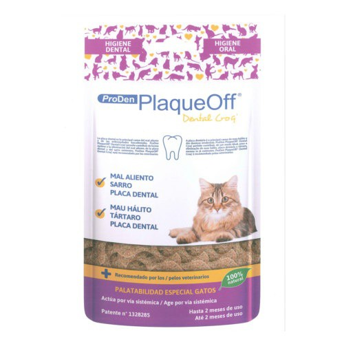 Snack dental para gatos PlaqueOff Dental Croq