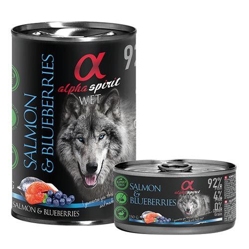 Alpha Spirit comida húmeda salmón con arándanos