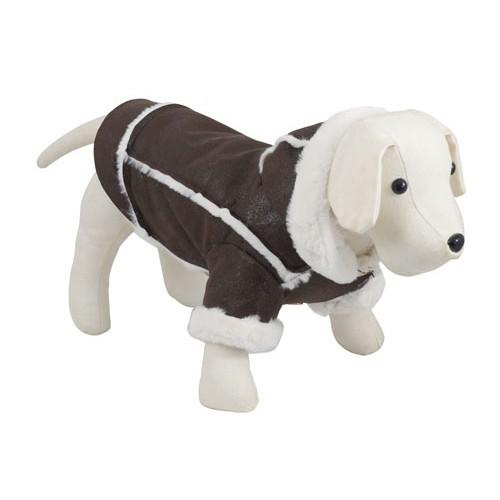 Chaqueta para perros Chic Dog marrón