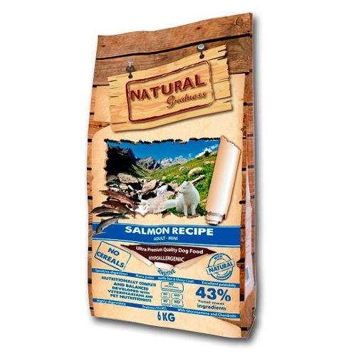Pienso Natural Greatness Salmon Sensitive Mini para perros