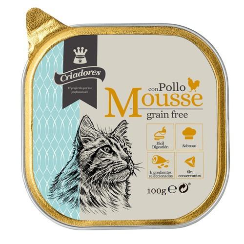 Criadores Mousse grain free con pollo para gatos