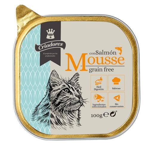 Criadores Mousse grain free con salmón para gatos