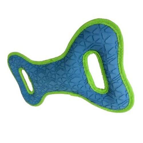 Tirador de goma resistente azul