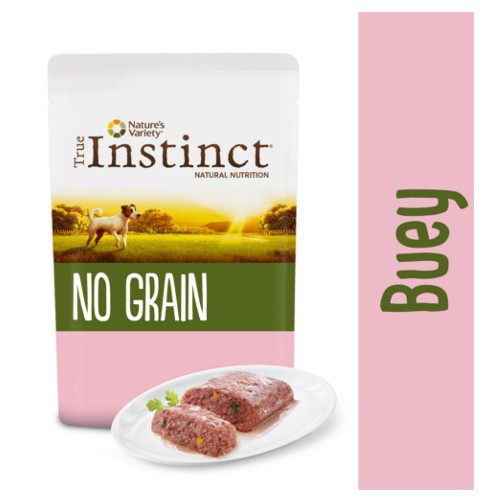 True Instinct No Grain Mini paté buey y verduras