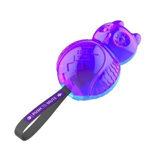 Buho con silenciador GiGwi malva y azul