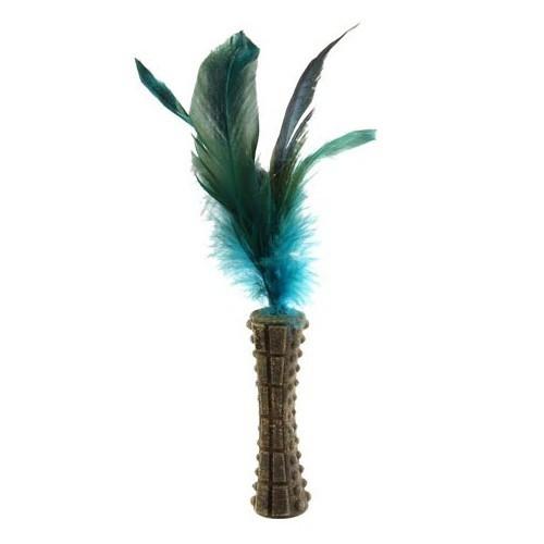 Hierba gatera con plumas azules GiGwi