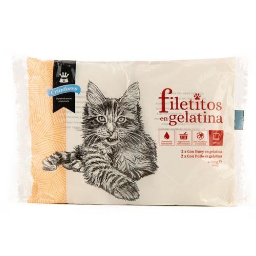 Multipack filetitos en gelatina Criadores para gatos