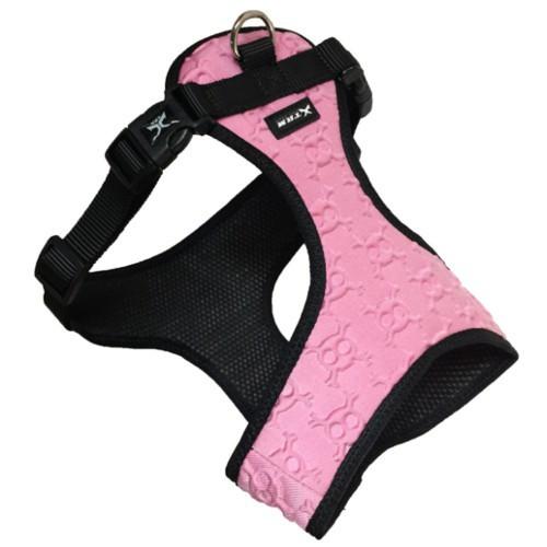 Arnés de calaveras 3D rosa