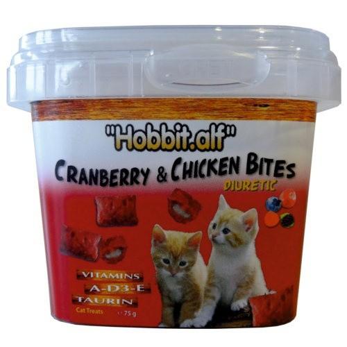 Snack diurético con frutos rojos para gatos
