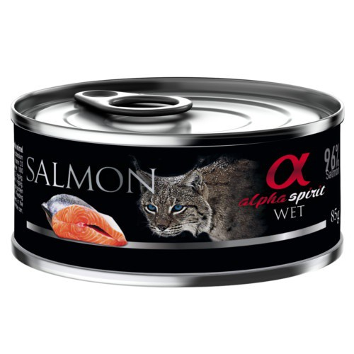 Alpha Spirit húmedo salmón para gatos
