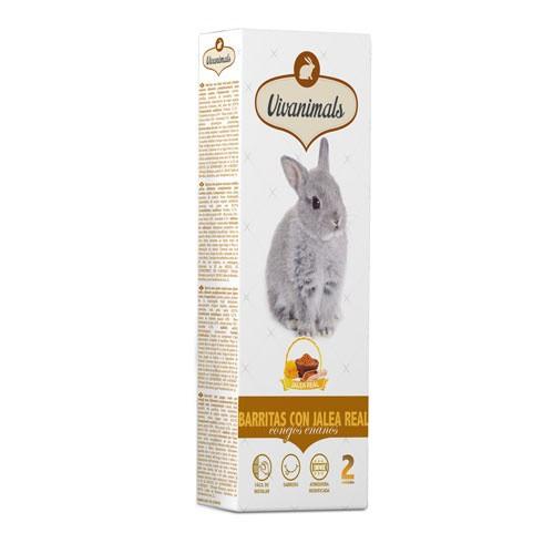 Barritas con jalea real para conejos Vivanimals