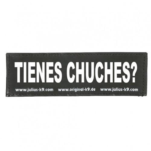 Etiqueta para arnés Julius K9 Tienes chuches?