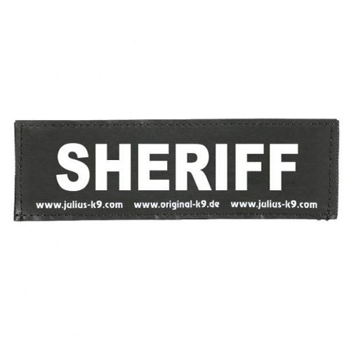 Etiqueta para arnés Julius K9 Sheriff