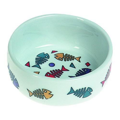 Comedero de cerámica raspas de pescado
