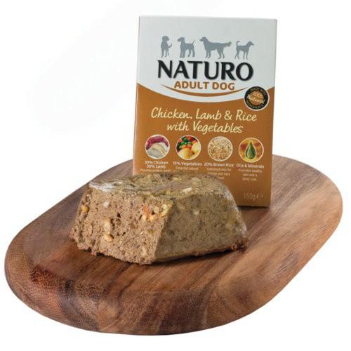 Naturo pollo con cordero y arroz para perros