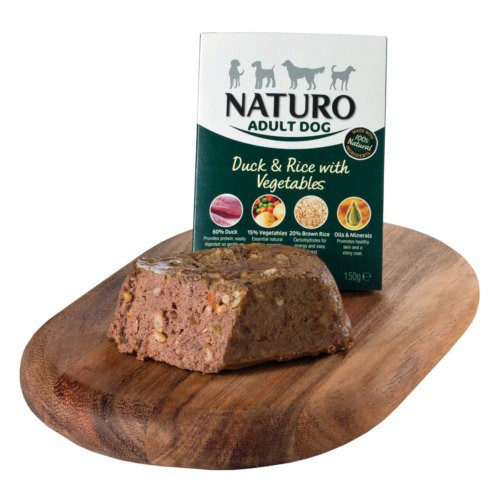 Naturo pato con arroz para perros
