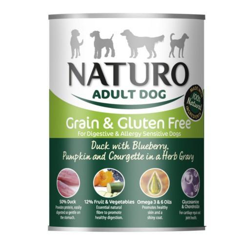 Naturo Grain Free pato con verduras para perros