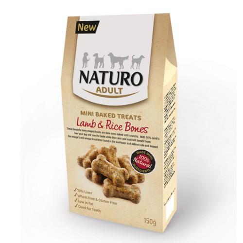 Naturo huesitos de cordero y arroz para perros