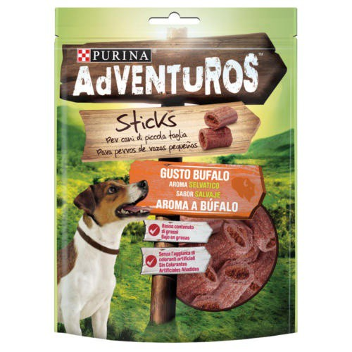 Snacks Purina Adventuros Sticks aroma a búfalo