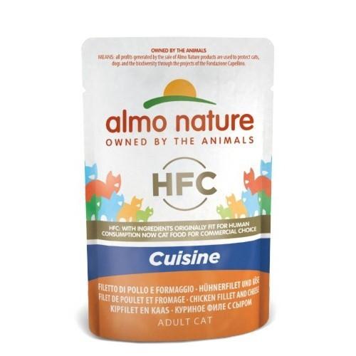 Almo Nature HFC Cuisine pollo y queso para gatos
