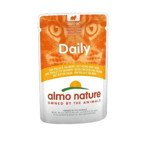 Almo Nature Daily pollo y salmón para gatos